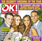 Una Healy wears the Wilderness forehead band at her wedding